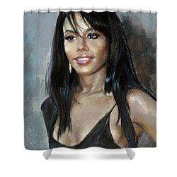 Aliya    Shower Curtain by Ylli Haruni