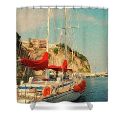 All Ashore Shower Curtain by Jeff Kolker