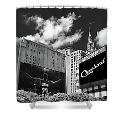 All In Cleveland Shower Curtain by Kenneth Krolikowski