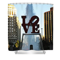 All You Need Is Love Shower Curtain by Bill Cannon