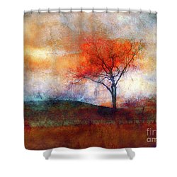 Alone In Colour Shower Curtain by Tara Turner