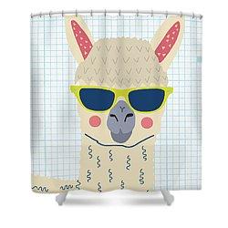 Alpaca Shower Curtain by Nicole Wilson