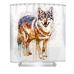 Alpha Wolf Shower Curtain by Marian Voicu