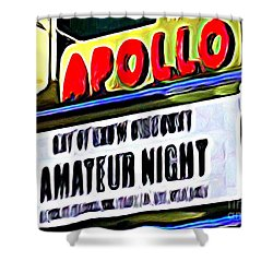 Amateur Night Shower Curtain by Ed Weidman