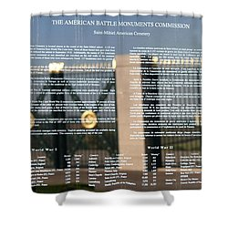 Shower Curtain featuring the photograph American Battle Monuments Commission by Travel Pics