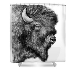 American Bison Shower Curtain by Greg Joens