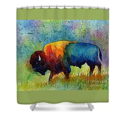American Buffalo IIi Shower Curtain by Hailey E Herrera