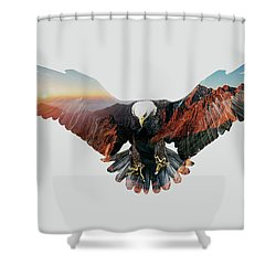 American Eagle Shower Curtain by John Beckley