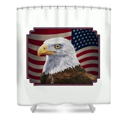 American Eagle Phone Case Shower Curtain by Crista Forest