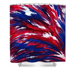 American Flag Shower Curtain by Michael Vigliotti