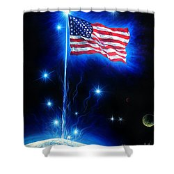 American Flag. The Star Spangled Banner Shower Curtain by Sofia Goldberg