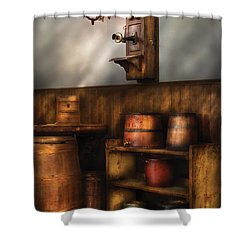 Americana -  In The Corner Of The General Store  Shower Curtain by Mike Savad