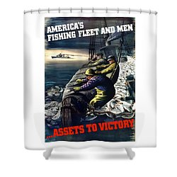 America's Fishing Fleet And Men  Shower Curtain by War Is Hell Store