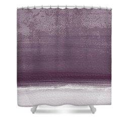 Amethyst Shoreline- Abstract Art By Linda Woods Shower Curtain by Linda Woods