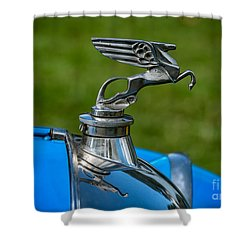 Amilcar Pegasus Emblem Shower Curtain by Adrian Evans
