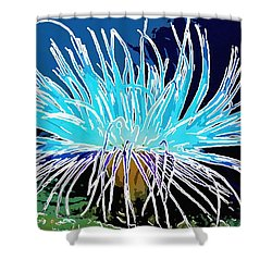 An Abstract Scene Of Sea Anemone 1 Shower Curtain by Lanjee Chee