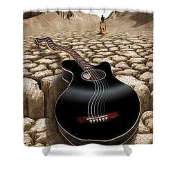 An Acoustic Nightmare 2 Shower Curtain by Mike McGlothlen