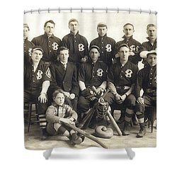 An Early Sf Baseball Team Shower Curtain by American School