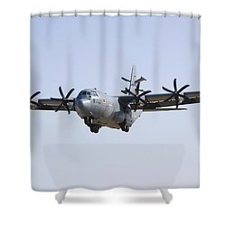 An Ec-130j Commando Solo Aircraft Shower Curtain by Stocktrek Images