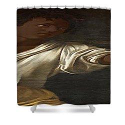 Ancient Human Instinct Shower Curtain by David Bridburg