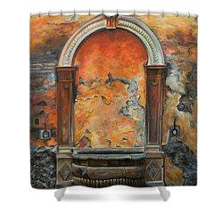 Ancient Italian Fountain Shower Curtain by Charlotte Blanchard
