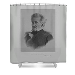 Andrew Jackson Shower Curtain by War Is Hell Store
