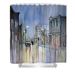 Another Rainy Night Shower Curtain by Ryan Radke