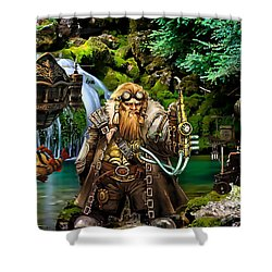 Another Time Collection Shower Curtain by Marvin Blaine