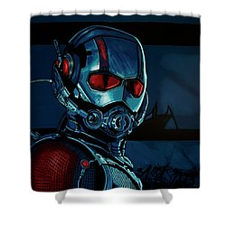 Ant Man Painting Shower Curtain by Paul Meijering