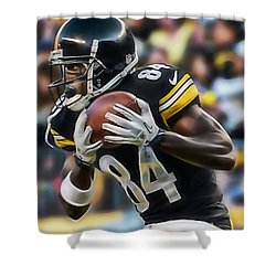Antonio Brown Collection Shower Curtain by Marvin Blaine