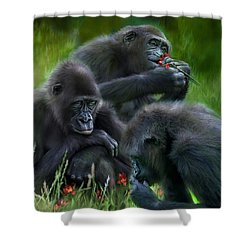 Ape Moods Shower Curtain by Carol Cavalaris