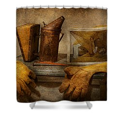 Apiary - The Beekeeper  Shower Curtain by Mike Savad