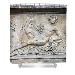 Apollo Relief In Gdansk Shower Curtain by Artur Bogacki