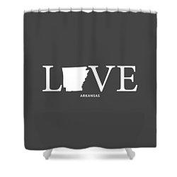 Ar Love Shower Curtain by Nancy Ingersoll