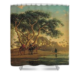 Arab Oasis Shower Curtain by Narcisse Berchere