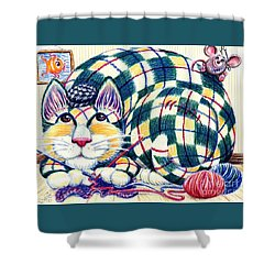 Argyle Shower Curtain by Dee Davis
