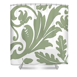 Arielle Olive Shower Curtain by Mindy Sommers