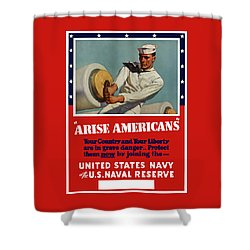Arise Americans Join The Navy  Shower Curtain by War Is Hell Store