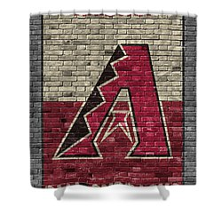 Arizona Diamondbacks Brick Wall Shower Curtain by Joe Hamilton