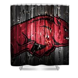 Arkansas Razorbacks 2a Shower Curtain by Brian Reaves