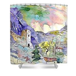 Arnedillo In La Rioja Spain 03 Shower Curtain by Miki De Goodaboom