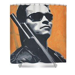Arnold Schwarzenegger 2013 Shower Curtain by Luis Ludzska