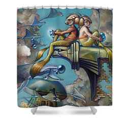 Array Of Hope And Change Shower Curtain by Patrick Anthony Pierson