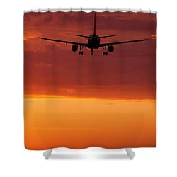 Arriving At Day's End Shower Curtain by Andrew Soundarajan