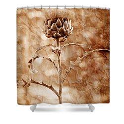 Artichoke Bloom Shower Curtain by La Rae  Roberts
