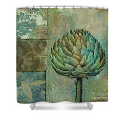 Artichoke Margaux Shower Curtain by Mindy Sommers