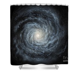 Artists Concept Of A Face-on View Shower Curtain by Ron Miller