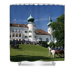 Shower Curtain featuring the photograph Artstetten Castle In June by Travel Pics