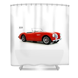 Austin Healey 100 1955 Shower Curtain by Mark Rogan