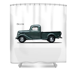 Ford Deluxe Pickup 1937 Shower Curtain by Mark Rogan